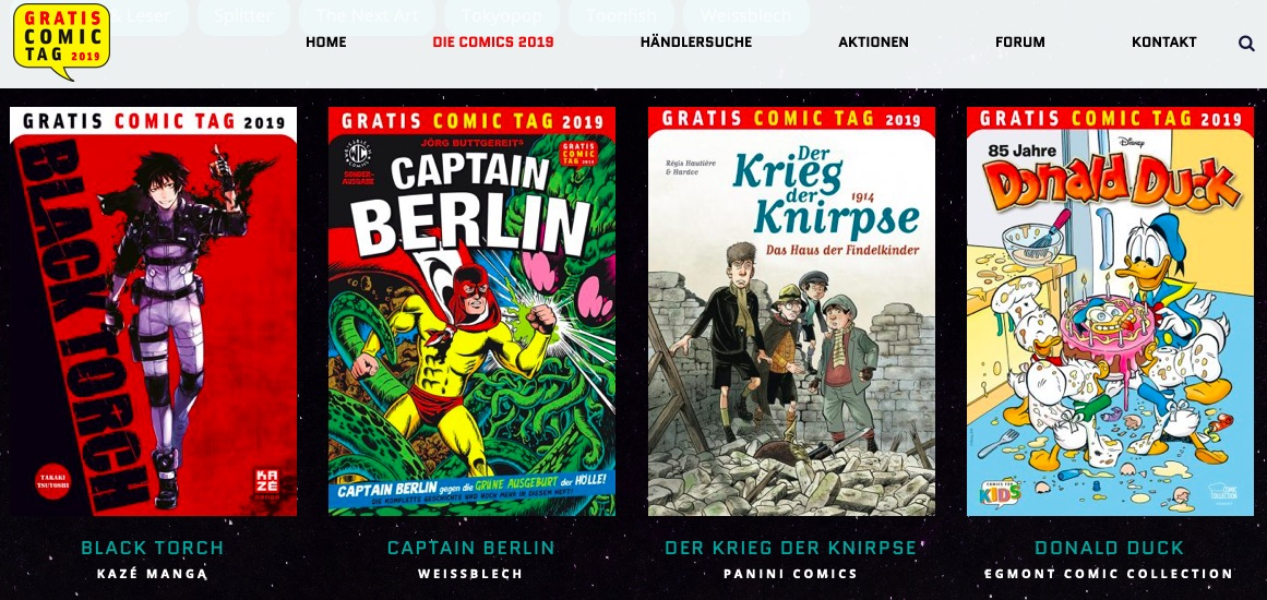 Gratis Comic Tag 2019 in Wien – Comics und Events im Überblick