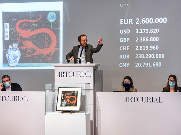 """Comic-Rekord: """"Tim und Struppi""""-Cover für über 3 Millionen Euro verkauft"""